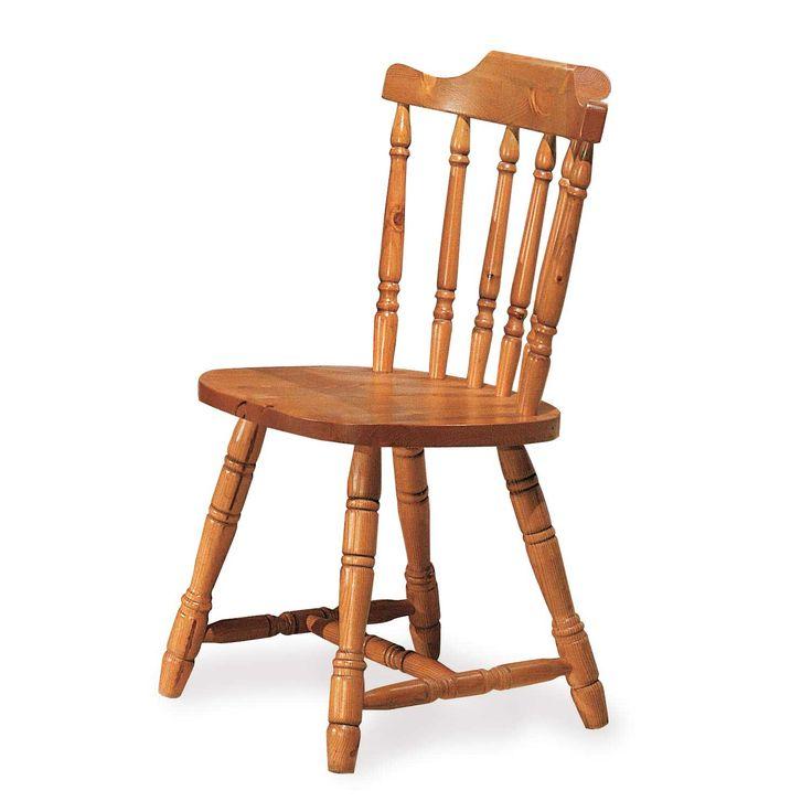 Sedia Old America rustica in legno massello. www.arredamentirustici.it