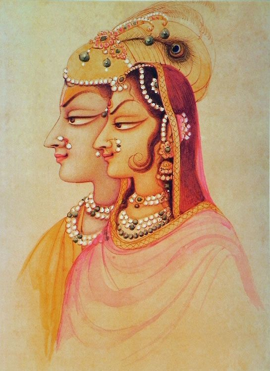 Radha Krishna - The Divine Lovers (Reprint on Paper - Unframed)