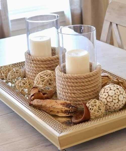 DIY Dekoideen und Bastelideen in seemännischen Stil - Tischdekoration