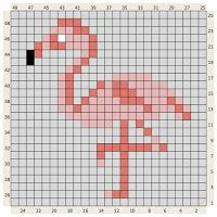 The Craft Co.: Crochet Charts--flamingo