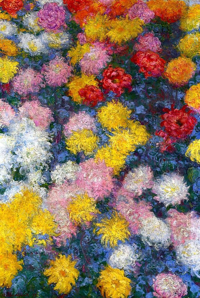 """claudemonet-art: """"Chrysanthemums, 1897 Claude Monet """""""