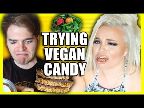 TRYING VEGAN CANDY with TRISHA PAYTAS! - YouTube