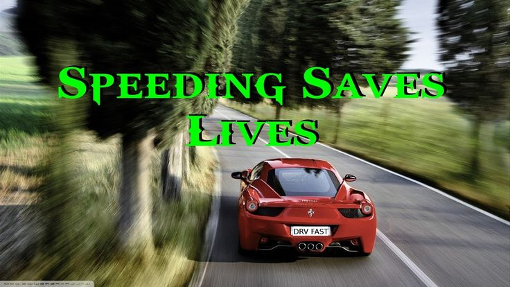 Speeding actually helps decrease the road toll.....We have been lied to by the Police and Government for years!!!