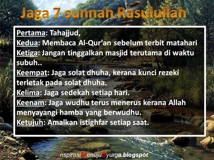 7 sunnah Rasulullah