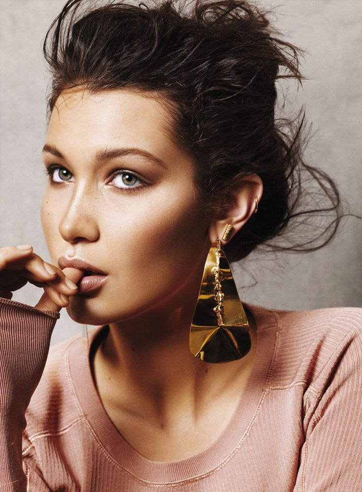 """She's Golden"" Bella Hadid for Glamour US July 2015 """