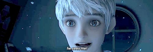 Jack Frost seeing his first believer. The part where I always start crying! I love it!!!