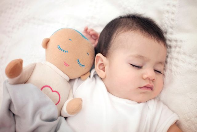 Lulla doll: Sleep companion for babies & toddlers | Lulla doll imitates closeness with its soft natural touch and by playing a real-life recording of the breathing and heartbeat of a mother at rest. Lulla's aim is to help babies stabilize their own breathing and heartbeat, resulting in longer and better quality sleep as well as added security.