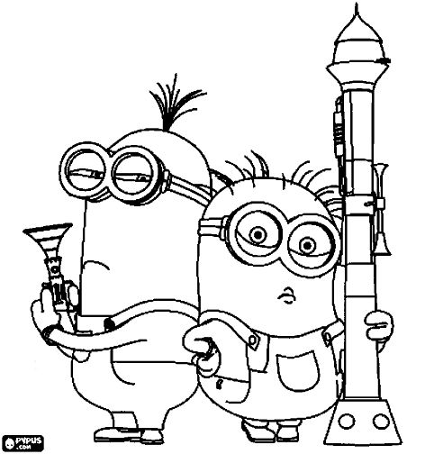 despicable me two coloring pages - photo#10