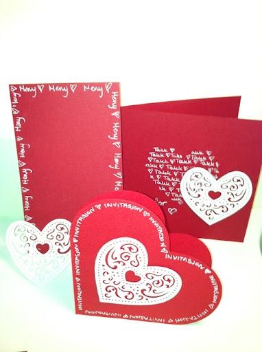 Heart-shaped card series.