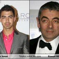 Joe Jonas Totally Looks Like Rowan Atkinson
