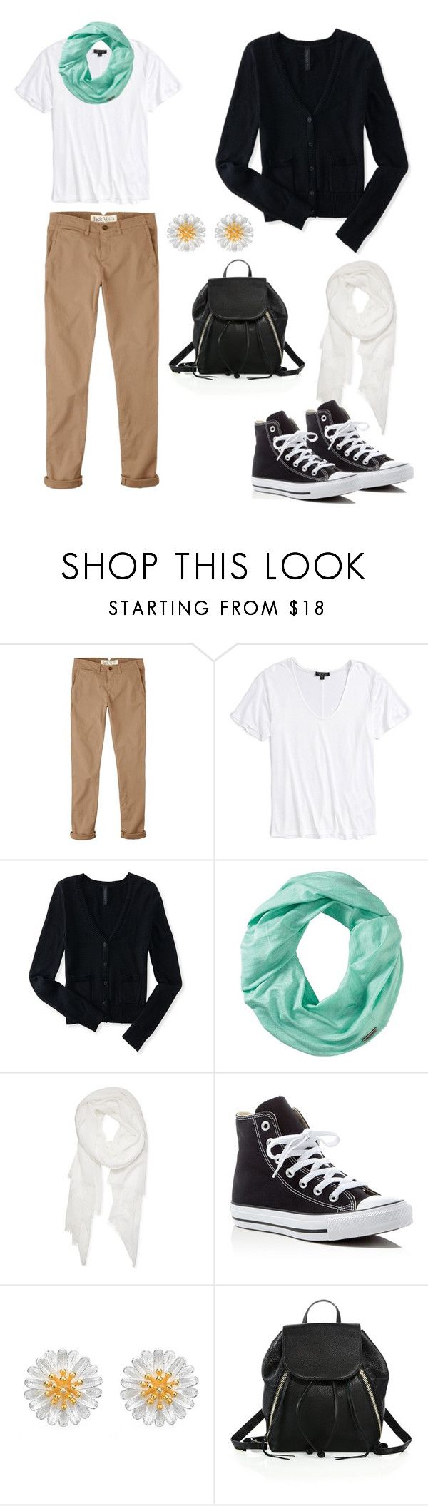 """""""бежевые джинсы"""" by anjasha ❤ liked on Polyvore featuring Jack Wills, Topshop, Aéropostale, Smartwool, Calvin Klein, Converse and Rebecca Minkoff"""
