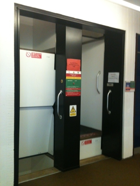Here are the Paternoster lifts in the University of Essex library (Colchester campus) Once you've tried this no other lift will ever be the same!
