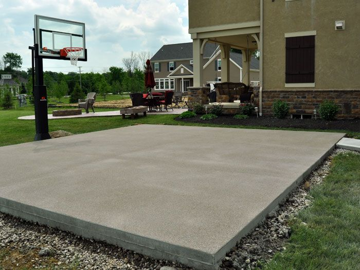 12 best images about pool and outdoor living on pinterest for Home basketball court cost