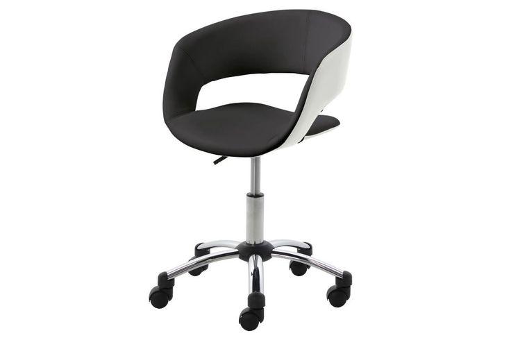 Bürostuhl Grace schwarz/weiß auch in lime-weiß erhältlich. Höhenverstellbarer Bürostuhl in schwarz.  #moebel #möbel #moebelpower #moebel_power #moebeltraeume #bürostuhl #stuhl #schreibtischstuhl #lime #weiß #weiss #schwarz #kinderzimmer #büro #Arbeitszimmer #actona #schwarz