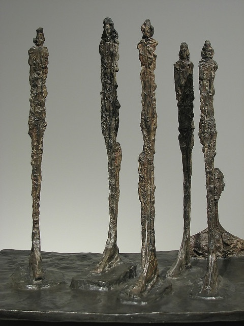 "Alberto Giacometti (1901–1966). Swiss sculptor, painter, draughtsman, and printmaker. ""The forest"". By peter_r, via Flickr"