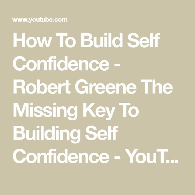 how to get self confidence back