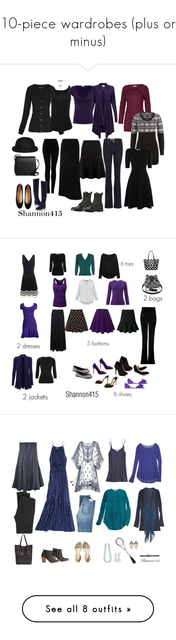 """10-piece wardrobes (plus or minus)"" by shannon415 ❤ liked on Polyvore featuring capsulewardrobe, Fenn Wright Manson, Tod's, Juvia, J Brand, Brooks Brothers, Topshop, Fat Face, L.K.Bennett and Morgan"