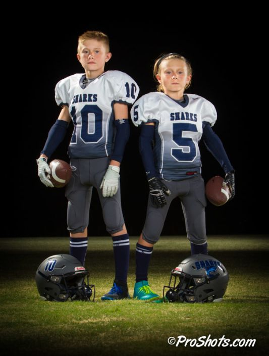 Youth Football Team Individual Portraits In Fresno Ca By Jim