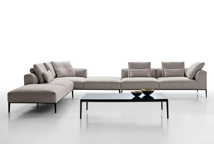 Canapé modulable / contemporain / en tissu / en cuir MICHEL EFFE B&B Italia