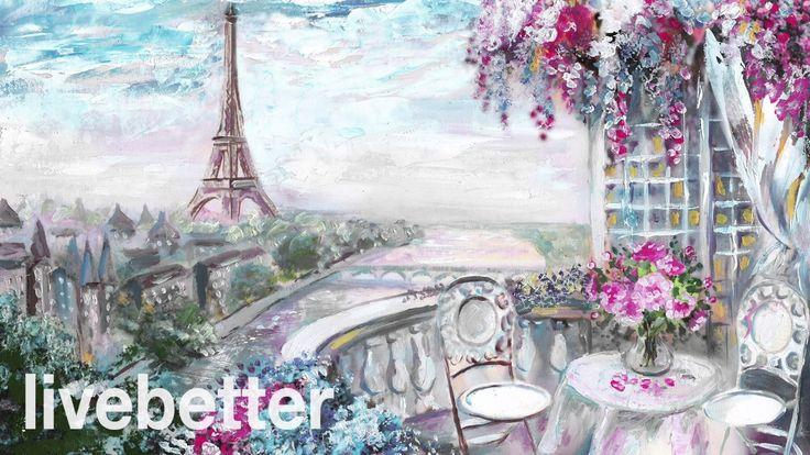 Кафе Париж романтическая французская романтическая традиционная инструме...