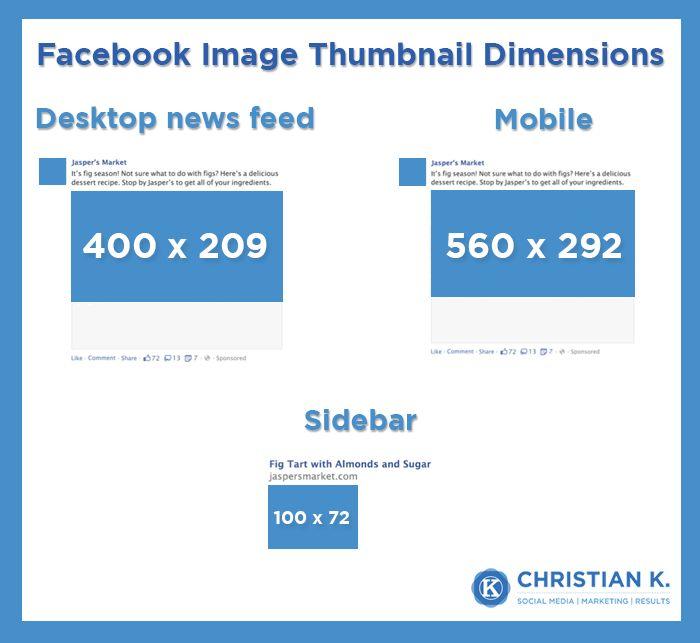 Facebook link thumbnail image dimensions