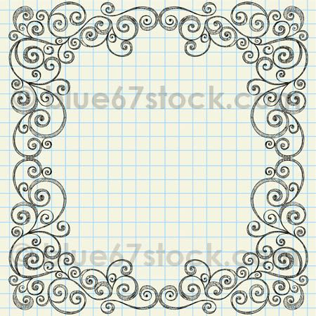 Sketchy Doodle Swirly Border Vector Illustration by blue67 | Flickr - Photo Sharing!