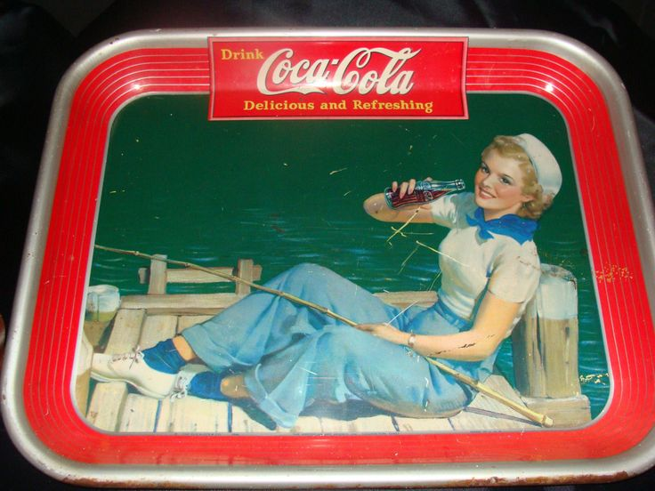 1940's dated vintage Coke Tray by AntiquatedHeirlooms on Etsy