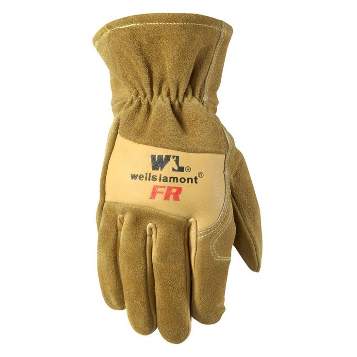 Men's Flame Resistant, Cowhide Leather Work Gloves, Extra-Large, Brown