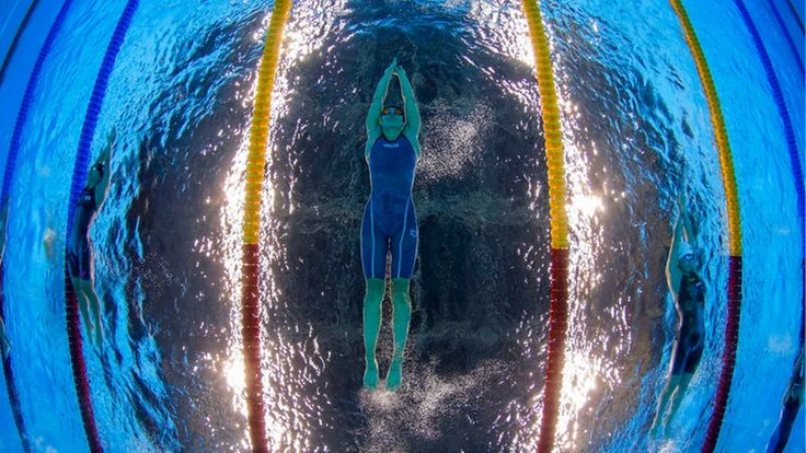 Die deutsche Schwimmerin Franziska Hentke © dpa - Bildfunk Fotograf: Patrick B. Kraemer
