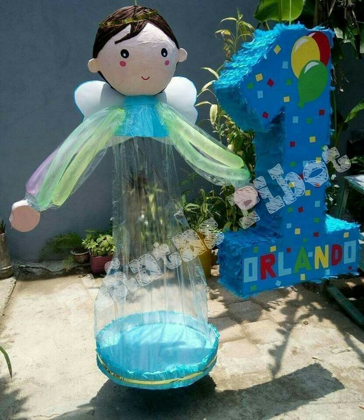 Piñata Angelito para globos. Piñata numero 1
