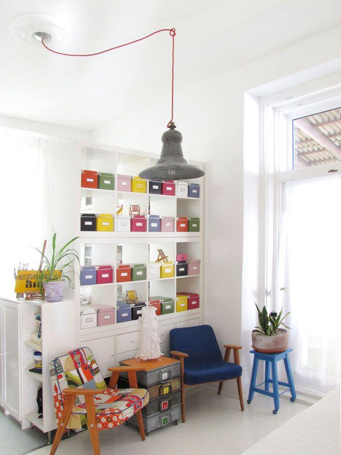 workroom, vintage industrial lamp, Chierowski model 366
