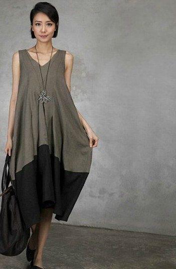 Maxi Dress Summer Dress 3 colors deep V collar by clothnew88