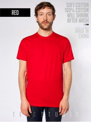 RED Blank Basic O neck - Tees Studio