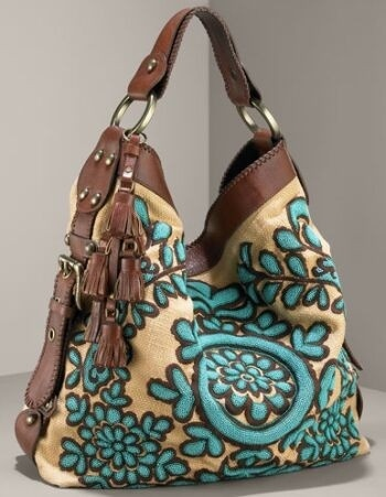 boho bag by isabella fiore - turquoise brown union - this designer excels in the quality department
