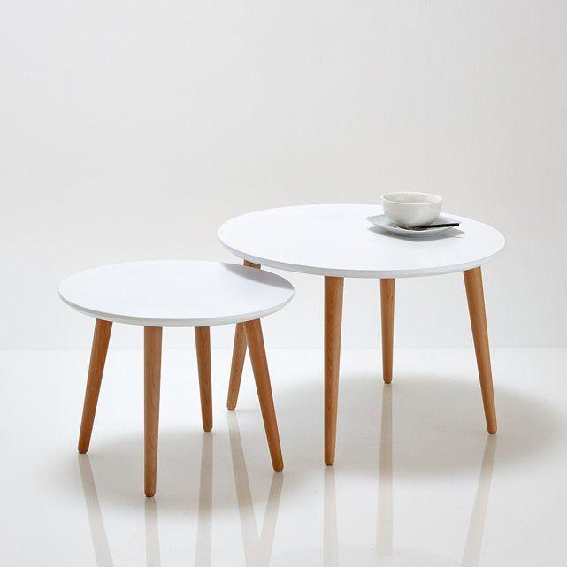 Tables basses, Jimi (lot de 2) La Redoute Interieurs Modèle 1 : Longueur 60 cm Hauteur 40 cm Profondeur 60 cm Modèle 2 : Longueur 45 cm Hauteur 35 cm Profondeur 45 cm 83€