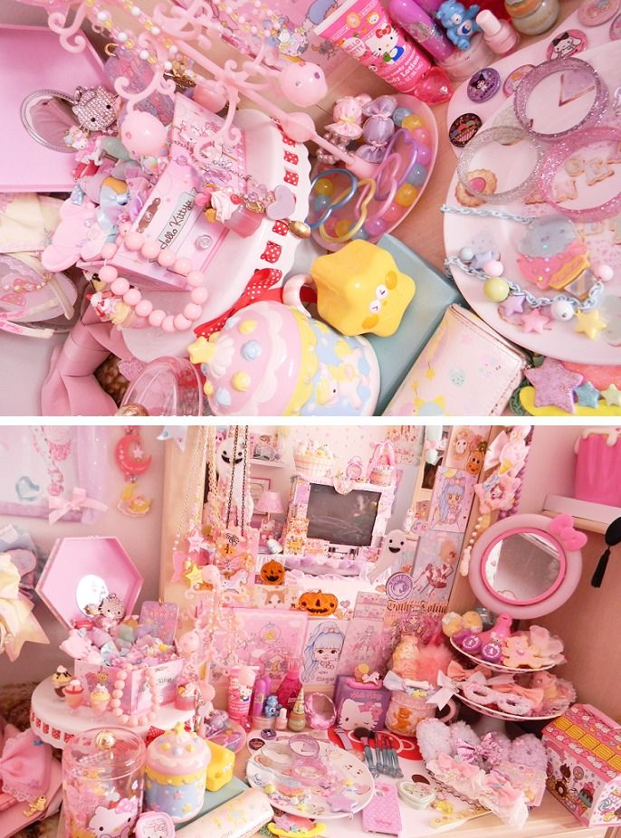 My Dream Room - Accessories! #Lolita #cute #kawaii #pink #FairyKei #DreamRoom #dream #perfect