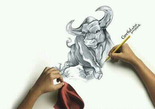 #nice #Drawing #Bull #Pencil | Amazing drawings ...