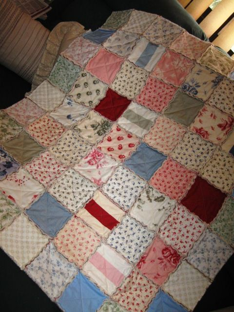 A small lap quilt I made for my neighbour to cuddle her during her cancer treatment.