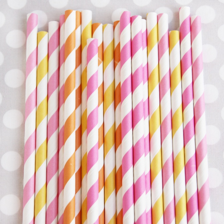 Stripey Sorbet Straw Mix      $4.00Stripey Straws, Sorbet Straws, Parties Supplies, Stripey Sorbet, Straws Mixed, Birthday Parties, Shops Sweets, Pink Lemonade, Lemonade Straws