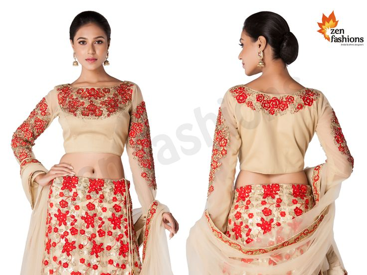 Gold And Red Lehenga With Thread Embroidery And  Stone Work. #zenfashions call - +91 9987244208 . . #lehenga #lehengacholi #choli #fashion #fashionista #designs #design #designer #look #lookoftheday #lookbook #love #lovely #beauty #beautiful #girl #women #womensfashion #mumbai