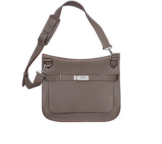 Jypsiere 34 Unisex shoulder bag in grey taurillon clemence leather ...