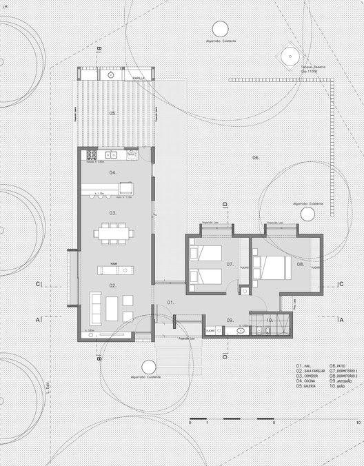 D+S House,Floor Plan