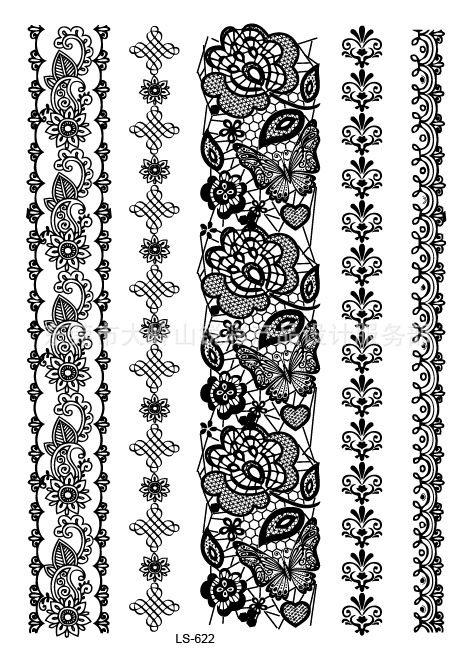Barato Laciness estilo LS 622 21 X 15 CM de Sexy fresco beleza tatuagem temporária tatuagem adesivos à prova d ' água quente, Compro Qualidade Tatuagens Temporárias diretamente de fornecedores da China:       Black Lace                       Laço branco: