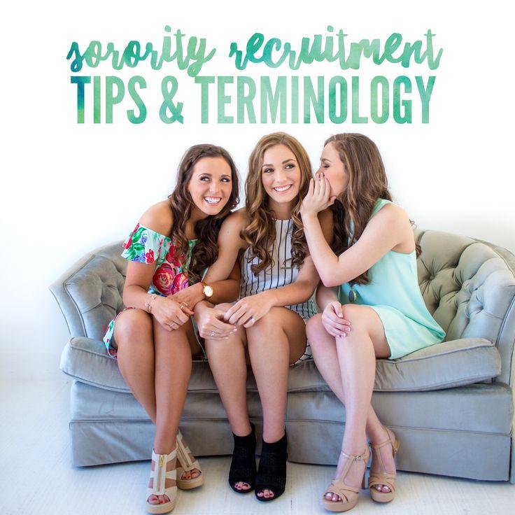 Rush 101: Sorority Recruitment Tips and Terminology