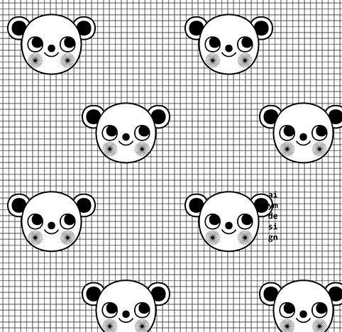 Black and white seamless pattern with cute monkey character on grid background. Wrapping paper with 2016 New Year's symbol - Monkey