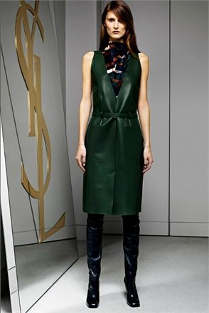 Dress in leather green - via @kennymilano