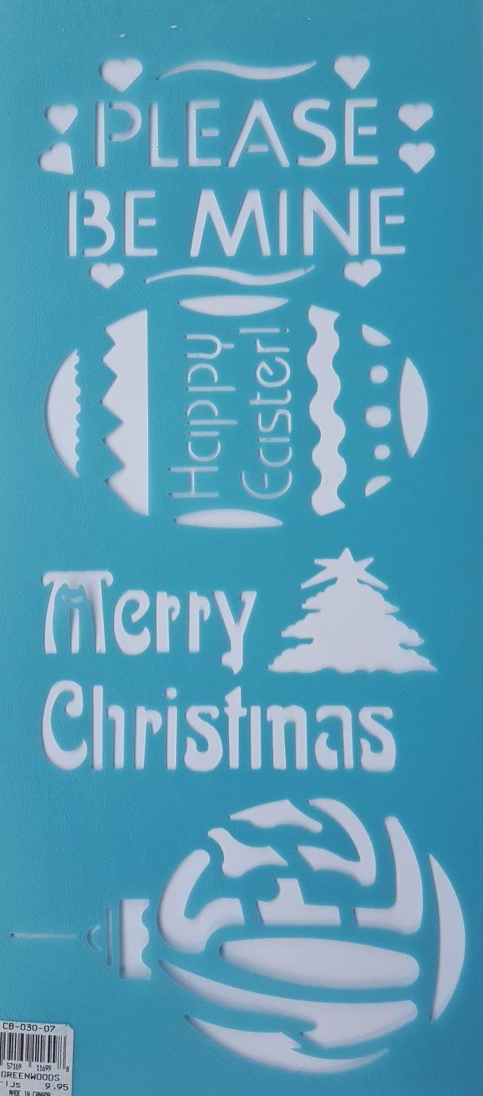 merry christmas sjabloon