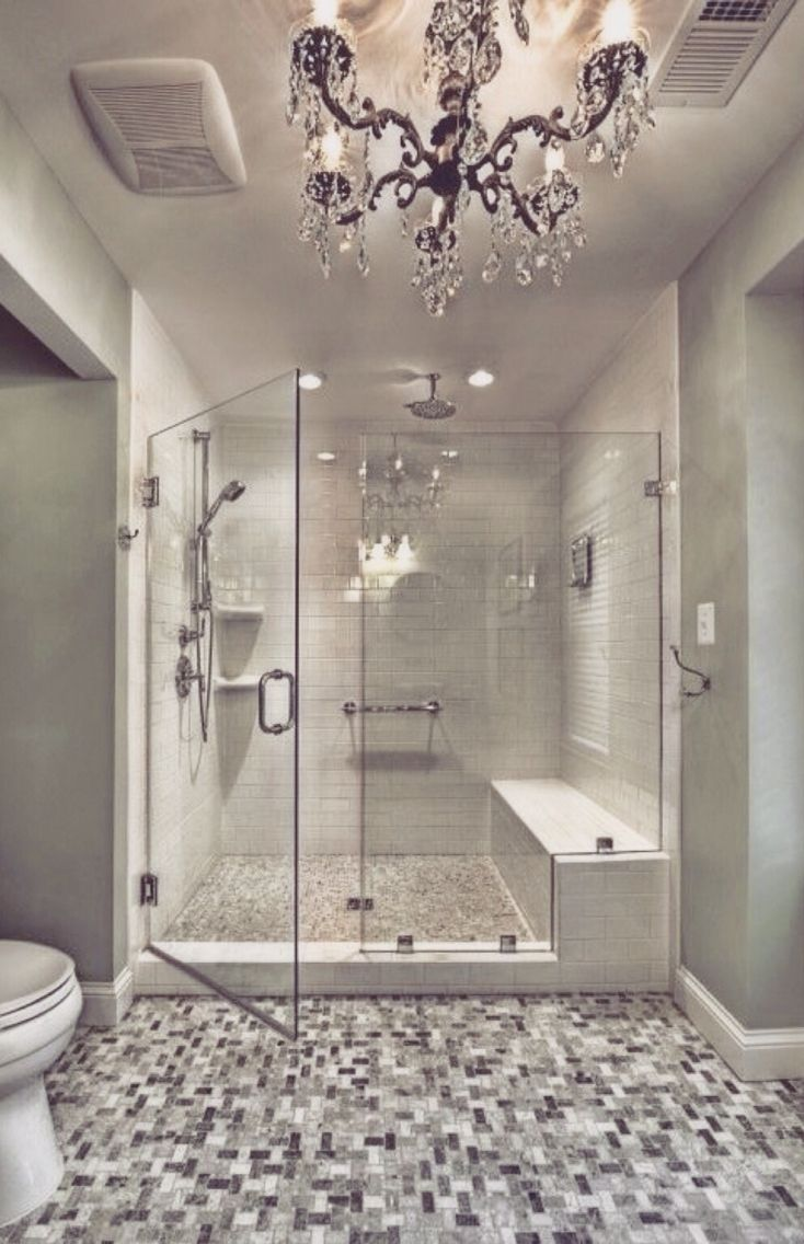 This is almost our exact shower- just flipped. I can't wait until our door is fabricated!