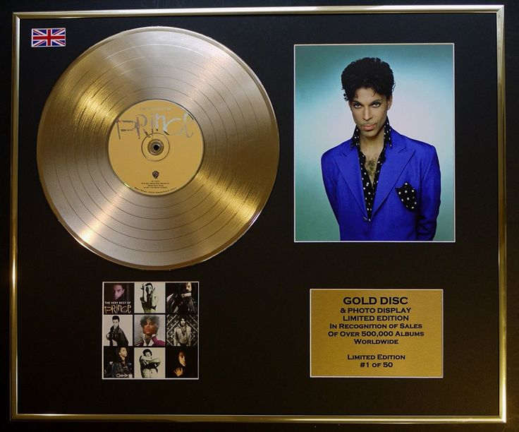 PRINCE/CD GOLD DISC/RECORD & PHOTO DISPLAY/LTD. EDITION/COA/THE VERY BEST OF