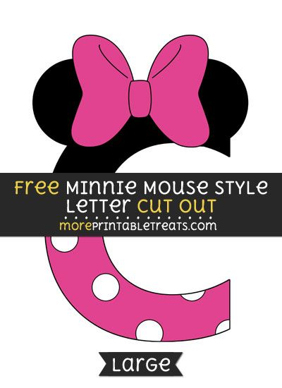 Free Minnie Mouse Style Letter C Cut Out - Large size printable